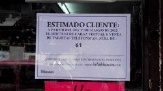 Sancionan a comercios que cobran plus en la venta de crédito para celulares