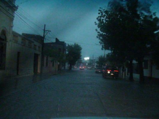 Copiosa precipitación soportó la ciudad de Goya