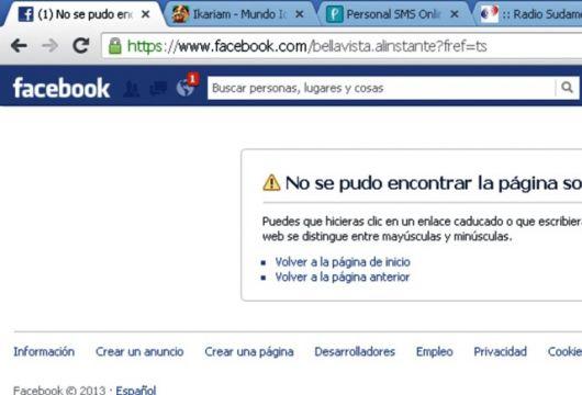 """""""Bellavista alInstante"""" desapareció del Facebook"""