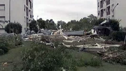 Fuerte temporal azotó al sur de Corrientes, Capital Federal e interior