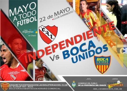Arrancó la venta de entradas para Independiente-Boca Unidos