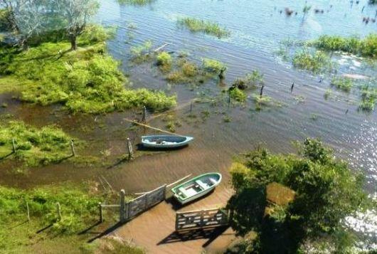Dos parajes de Tatacuá aún permanecen bajo agua, a un mes del último temporal