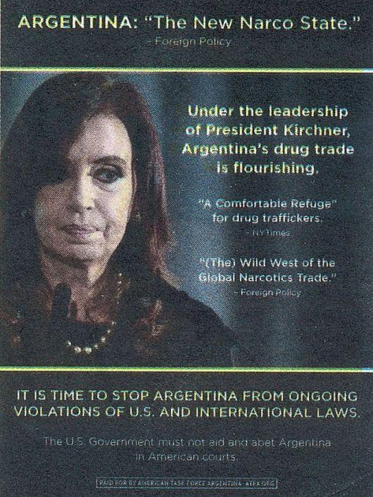 """Una campaña en los EEUU acusa a la Argentina de ser un """"narcoestado"""""""