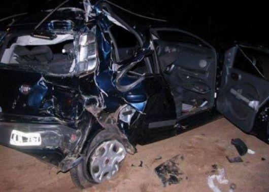 Camión embistió al auto de un grupo chamamecero