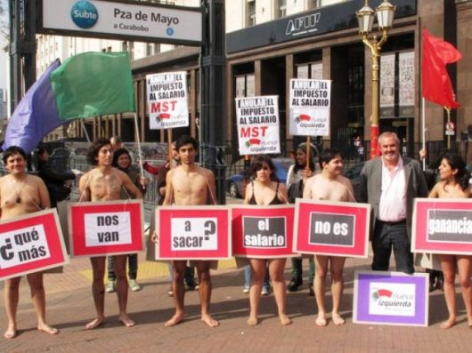 Todo vale en campaña: se desnudaron por Ganancias