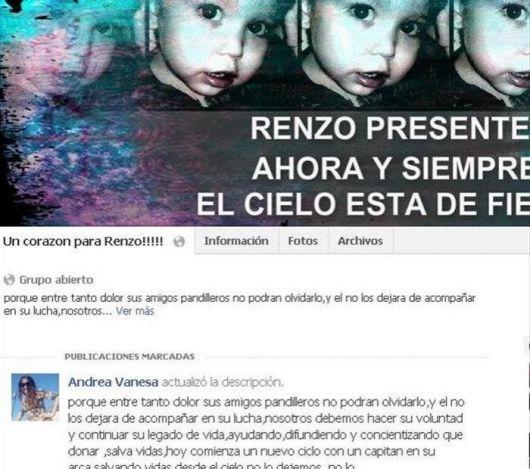 Para la donación, seguirán los grupos por Renzo en redes