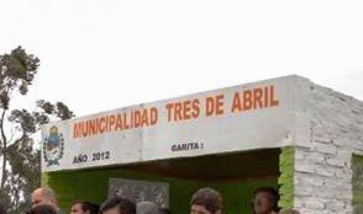 Inauguran nuevo acceso a la municipalidad de 3 de Abril