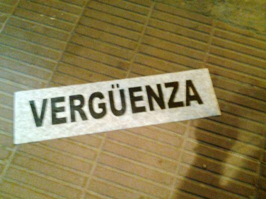 """""""Vergüenza"""""""