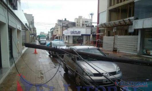 El temporal causó algunos daños en varios sectores de la ciudad