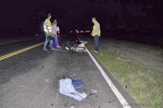 Virasoro: falleció motociclista tras impactar contra camión acoplado