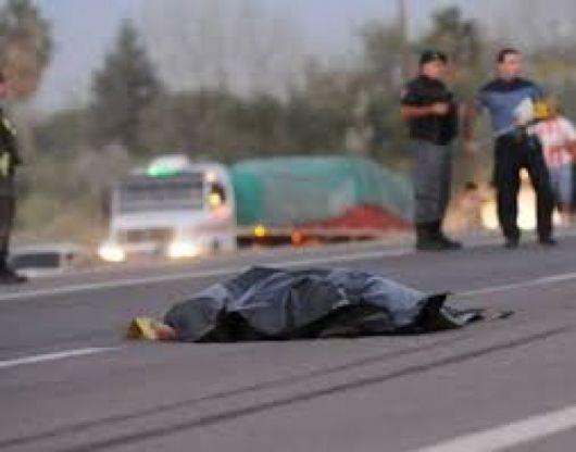 Camión embistió y mató a un anciano de 80 años