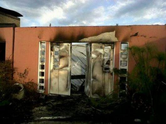 Fuego devoró un sector de la casa de la Intendente de Perugorría