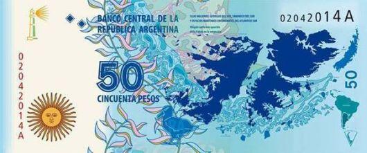 Emitirán un nuevo billete de $50 en homenaje a las Islas Malvinas