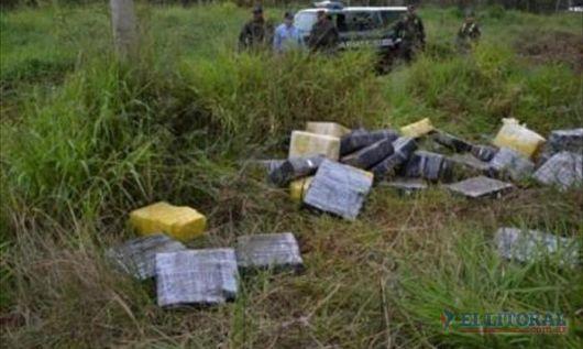 Incautan 777 kilos de marihuana abandonada en Gobernador Virasoro