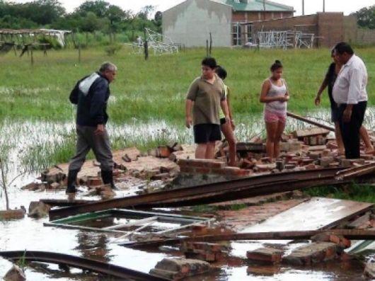 Temporal: continúan las lluvias y los destrozos en Goya