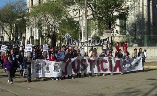 Esquina: marcharon en reclamo de justicia por el crimen de Yésica