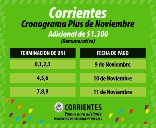 Se conoce el cronograma del plus a estatales del mes de noviembre