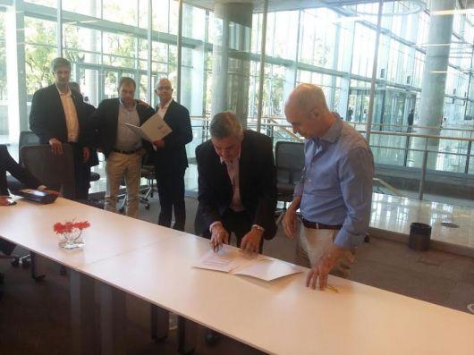 Walter Chávez firmó convenio con su par porteño Rodríguez Larreta