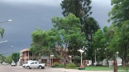 74 mm de lluvia y furia