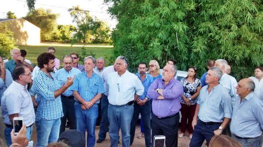 El Gobernador y el Intendente visitan obras en Bella Vista