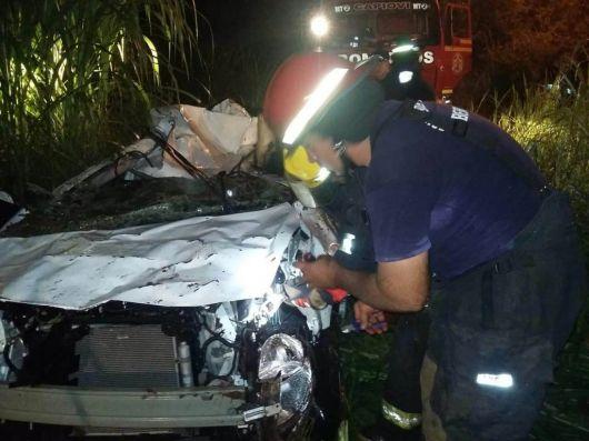 Misiones: tres correntinos murieron tras un vuelco vehicular