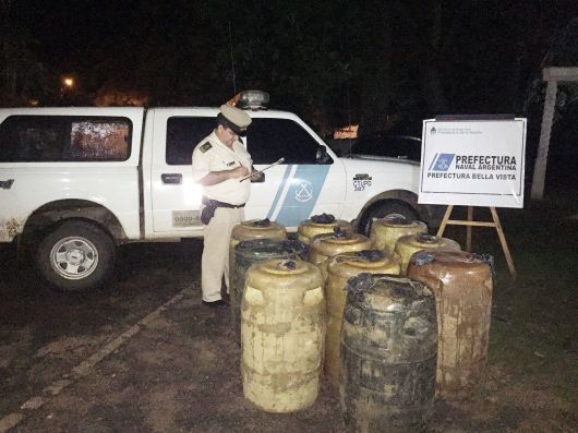 Prefectura secuestró combustible en Corrientes