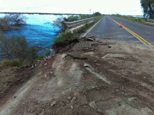 Ruta Nacional 123 cortada por precaución