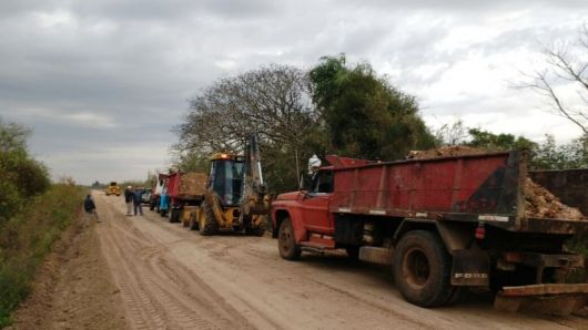 Retoman los trabajos del Enripiado de la ruta Provincial  112