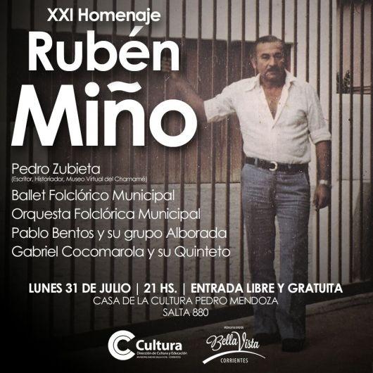 XXI homenaje a Rubén Miño