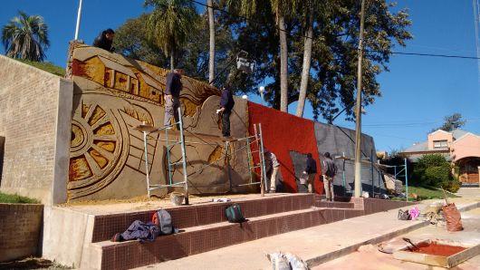 Restauran el Mural que representa el Combate de Punta Cuevas