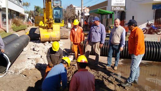 Obras de desagües integrales llegan al centro de la ciudad