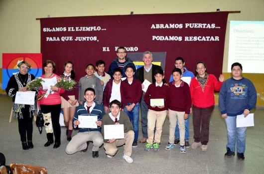 El Intendente visito la Escuela Tecnica para el cierre de un concurso sobre Bullying