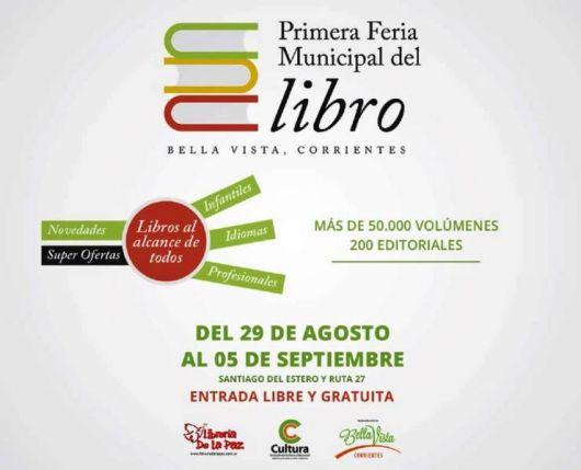 Bella Vista lanzó su 1º Feria del Libro Municipal