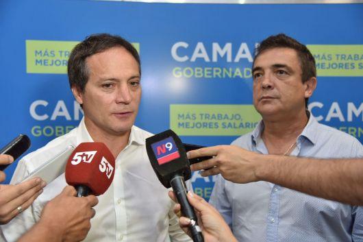 """Camau: """"Siempre que sea para construir una provincia mejor me van a encontrar a su lado"""""""