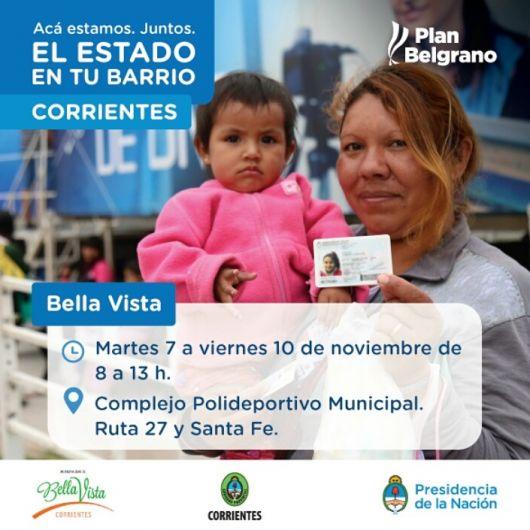 """Programa nacional """"EL ESTADO EN TU BARRIO"""" en Bella Vista"""