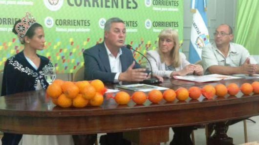 Bella Vista Presento en Corrientes Capital la XV edición de la Fiesta Nacional de la Naranja