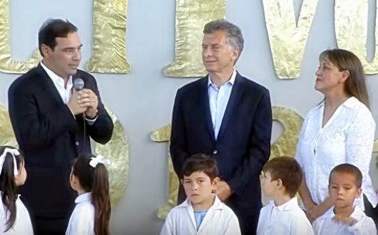 El Presiente Mauricio Macri inauguró el periodo escolar 2018 en Bella vista, con la inauguración de una nueva escuela