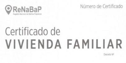 ANSeS Entregan Certificados de Vivienda Familiar en el marco de ReNaBaP