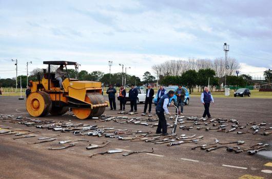 El municipio destruyó mas 260 escapes antirreglamentarios