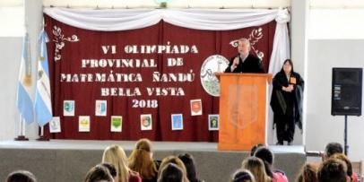 Inauguran la VI Olimpiada Provincial Provincial de Matemática