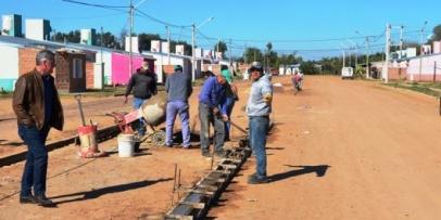 Avanzan obras urbanas en el sector sur de la ciudad