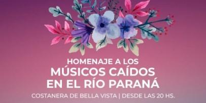 Preparan homenajes a los Músicos Desaparecidos en Bella Vista