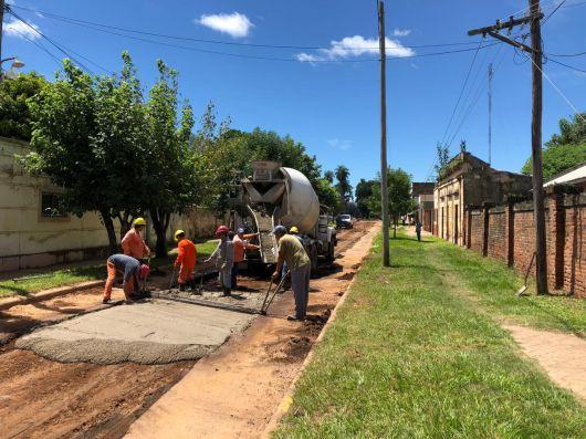 Comienza el asfaltado tras las obras de desagüe