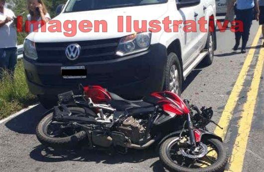 Joven de 13 años pierde la vida conduciendo una moto sobre ruta 27