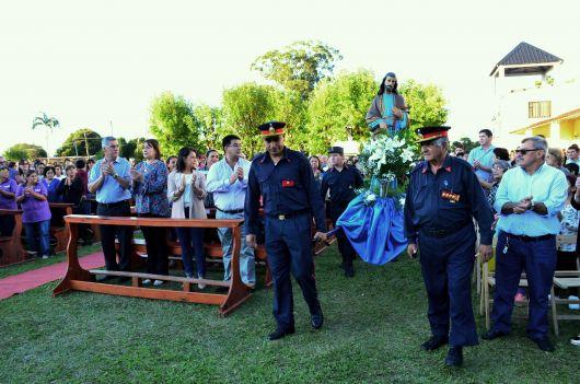 Chavez acompañó los festejos de San José Obrero