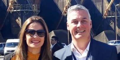 Chavez junto a la Diputada Provincial Electa Noelia Bazzi en la inauguración del paso Ituzaingó-Ayolas