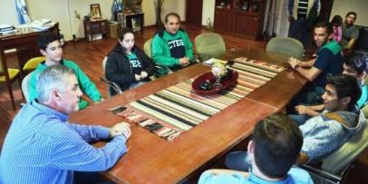 Chavez recibió a atletas de los Juegos Evita 2019