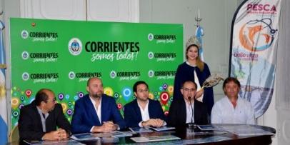 Presentaron en Corrientes el XVI Concurso de Pesca Variada de Bella Vista