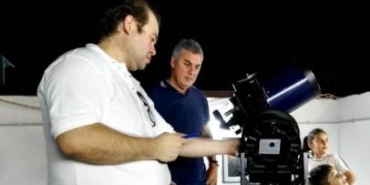 Realizaron la primera experiencia de observación astronómica