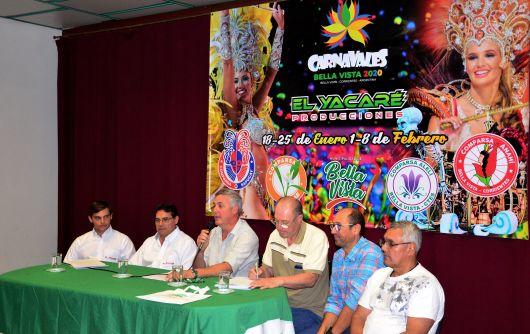 Anunciaron los Carnavales Oficiales de Bella Vista